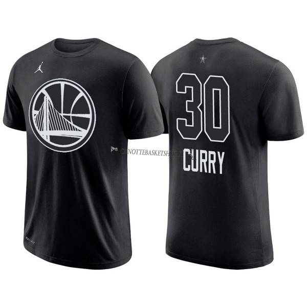 Comprare Maglia NBA 2018 All Star Manica Corta NO.30 Stephen Curry Nero