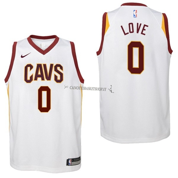 Comprare Maglia NBA Bambino Cleveland Cavaliers NO.0 Kevin Love Bianco Association 2017-18