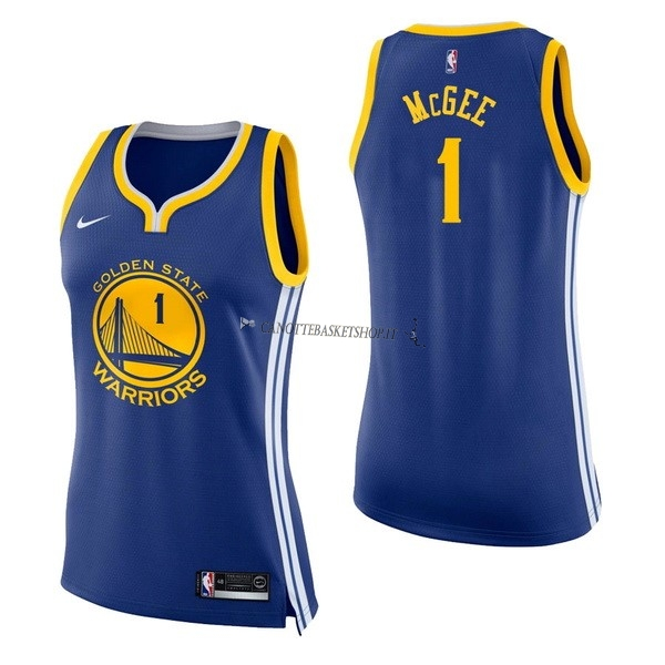 Comprare Maglia NBA Donna Golden State Warriors NO.1 JaVale McGee Blu Icon