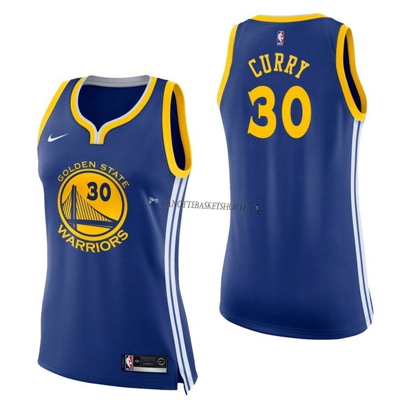 Comprare Maglia NBA Donna Golden State Warriors NO.30 Stephen Curry Blu Icon