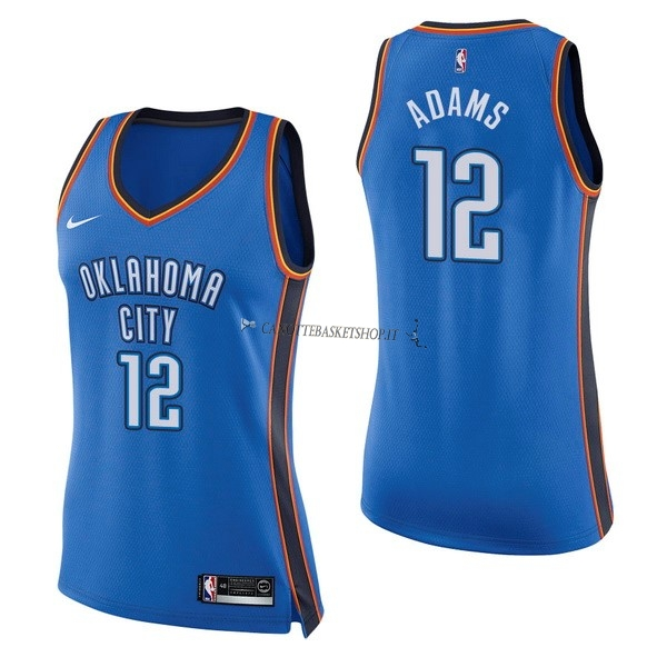 Comprare Maglia NBA Donna Oklahoma City Thunder NO.12 Steven Adams Blu Icon