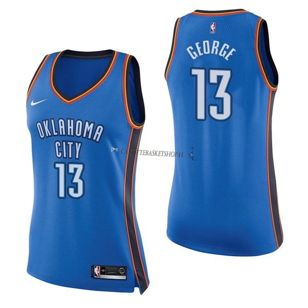 Comprare Maglia NBA Donna Oklahoma City Thunder NO.13 Paul George Blu Icon