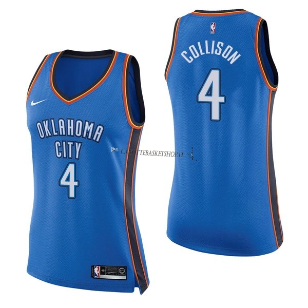 Comprare Maglia NBA Donna Oklahoma City Thunder NO.4 Nick Collison Blu Icon