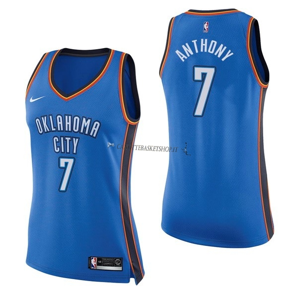 Comprare Maglia NBA Donna Oklahoma City Thunder NO.7 Carmelo Anthony Blu Icon