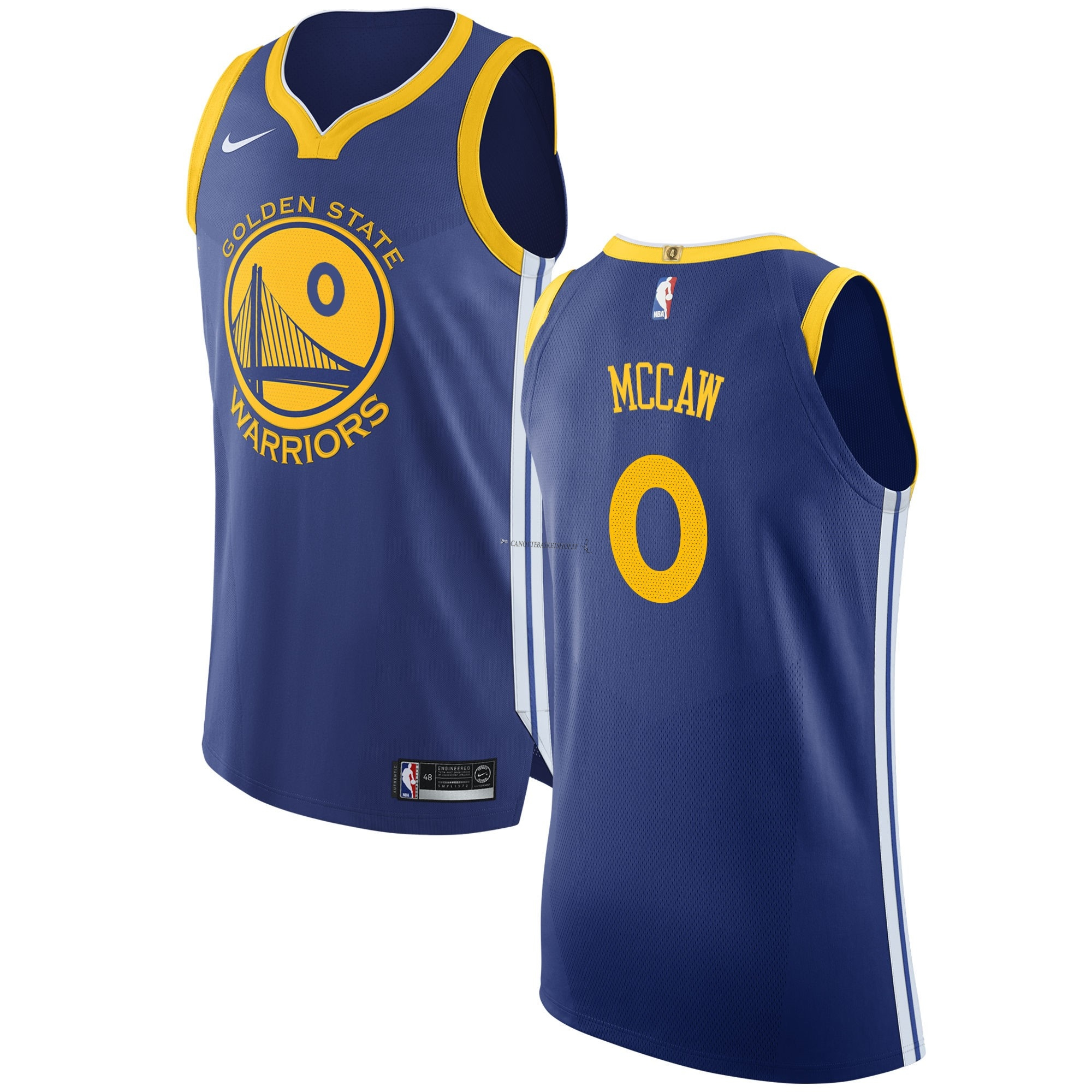 Comprare Maglia NBA Nike Golden State Warriors NO.0 Patrick McCaw Blu Icon