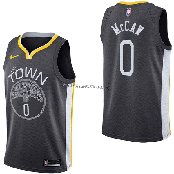 Comprare Maglia NBA Nike Golden State Warriors NO.0 Patrick McCaw Nero Statement