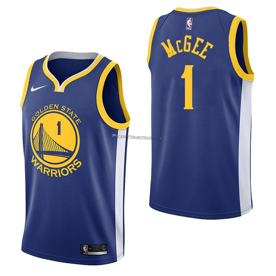 Comprare Maglia NBA Nike Golden State Warriors NO.1 JaVale McGee Blu Icon