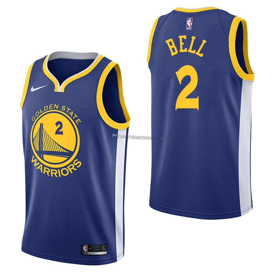 Comprare Maglia NBA Nike Golden State Warriors NO.2 Jordan Bell Blu Icon