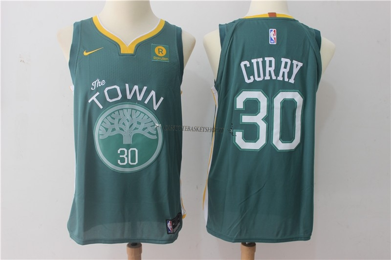 Comprare Maglia NBA Nike Golden State Warriors NO.30 Stephen Curry Verde