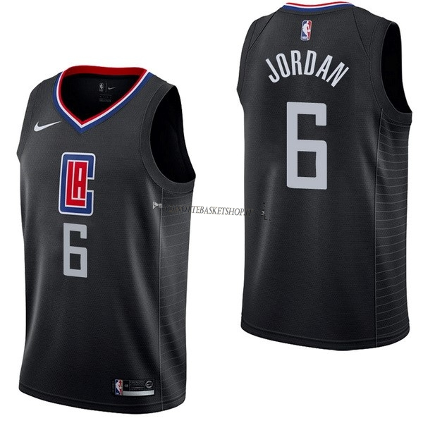 Comprare Maglia NBA Nike Los Angeles Clippers NO.6 DeAndre Jordan Nero Statement