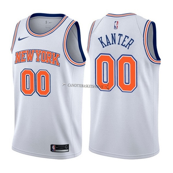 Comprare Maglia NBA Nike New York Knicks NO.0 Enes Kanter Bianco Statement