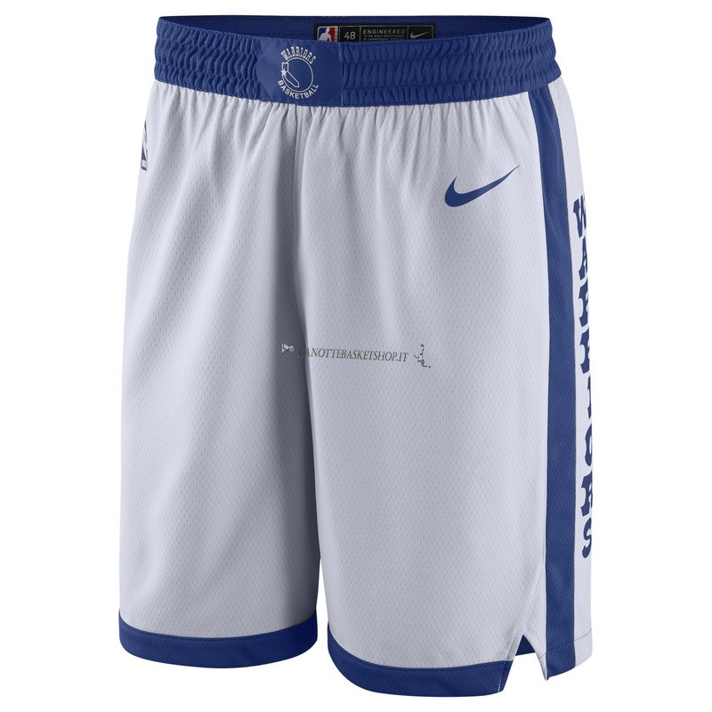 Comprare Pantaloni Basket Golden State Warriors Nike Retro Bianco