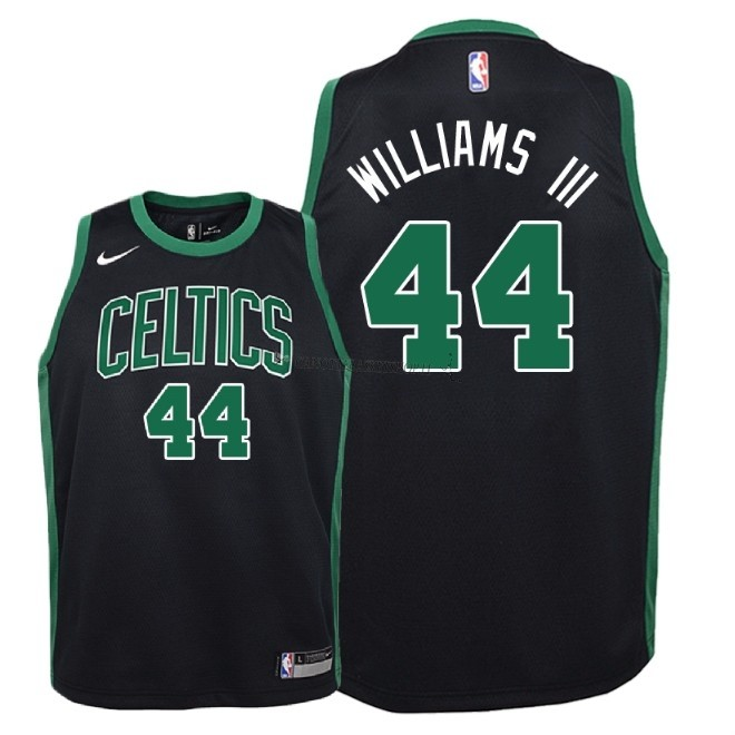 Comprare Maglia NBA Bambino Boston Celtics NO.44 Robert Williams III Nero Statement 2018