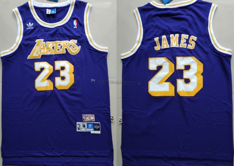 Comprare Maglia NBA Los Angeles Lakers NO.23 Lebron James Retro Porpora