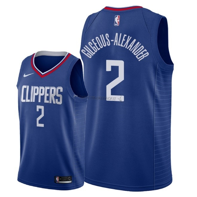 Comprare Maglia NBA Nike Los Angeles Clippers NO.2 Shai Gilgeous Alexander Blu Icon 2018