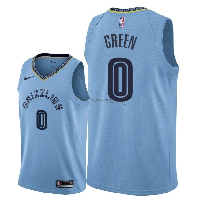 Comprare Maglia NBA Nike Memphis Grizzlies NO.0 JaMychal Green Blu Statement 2018-19