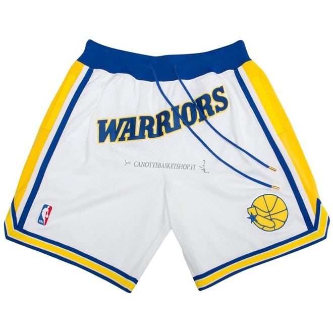 Comprare Pantaloni Basket Golden State Warriors Nike Retro Bianco 2018