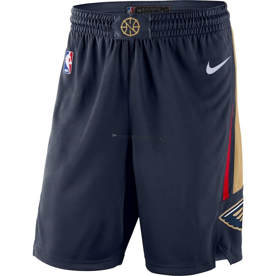Comprare Pantaloni Basket New Orleans Pelicans Nike Marino Icon 2018