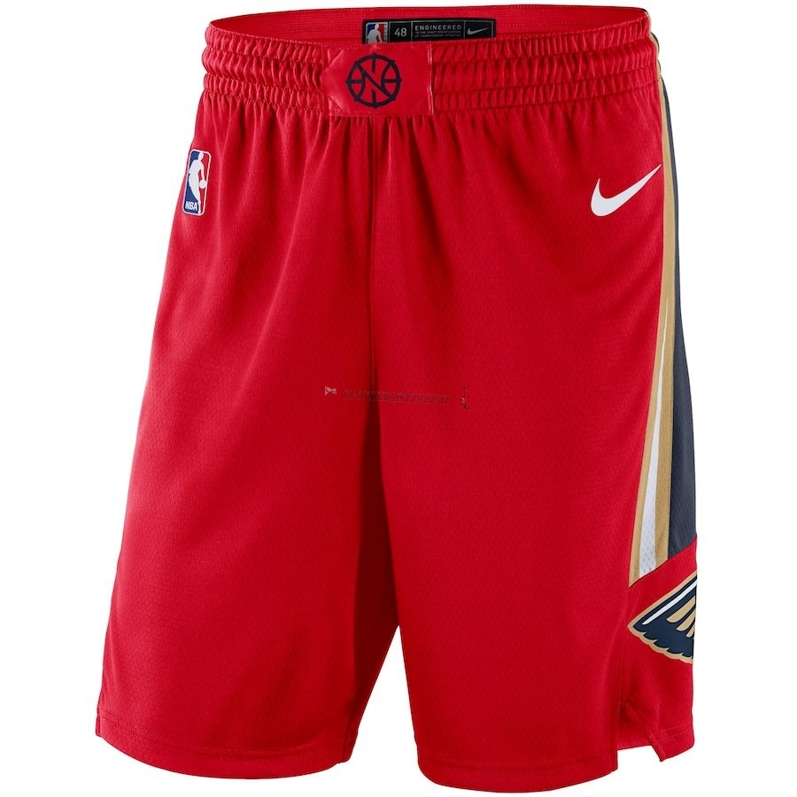 Comprare Pantaloni Basket New Orleans Pelicans Nike Rosso Statement 2018