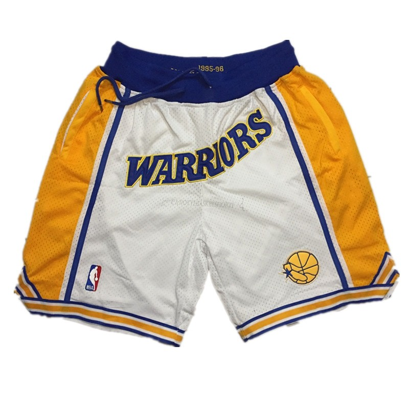 Comprare Pantaloni Basket Golden State Warriors Curry Bianco