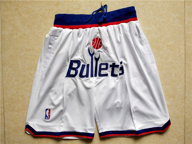 Comprare Pantaloni Basket Washington Wizards Bianco