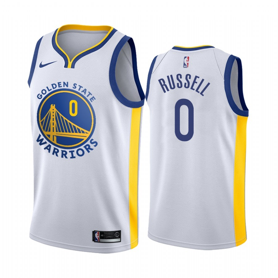 Comprare Maglia NBA Nike Golden State Warriors NO.0 D'Angelo Russell Bianco Association