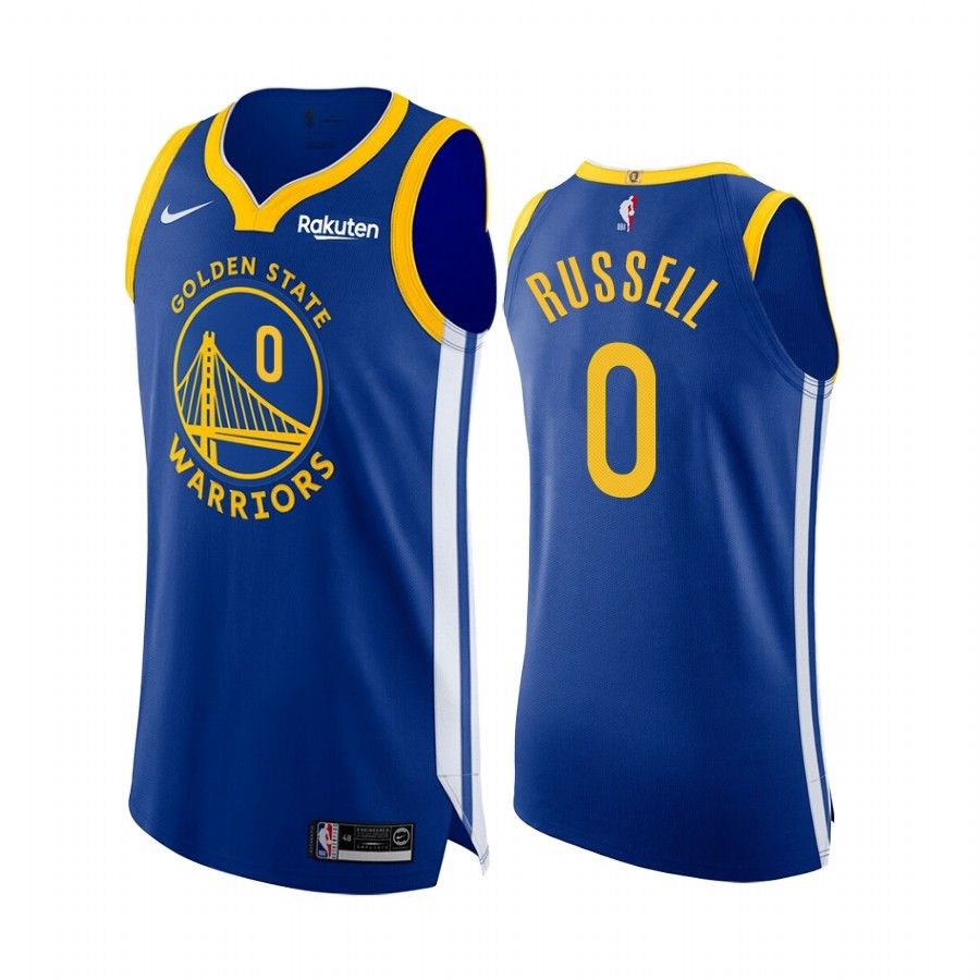 Comprare Maglia NBA Nike Golden State Warriors NO.0 D'Angelo Russell Blu Icon Edition