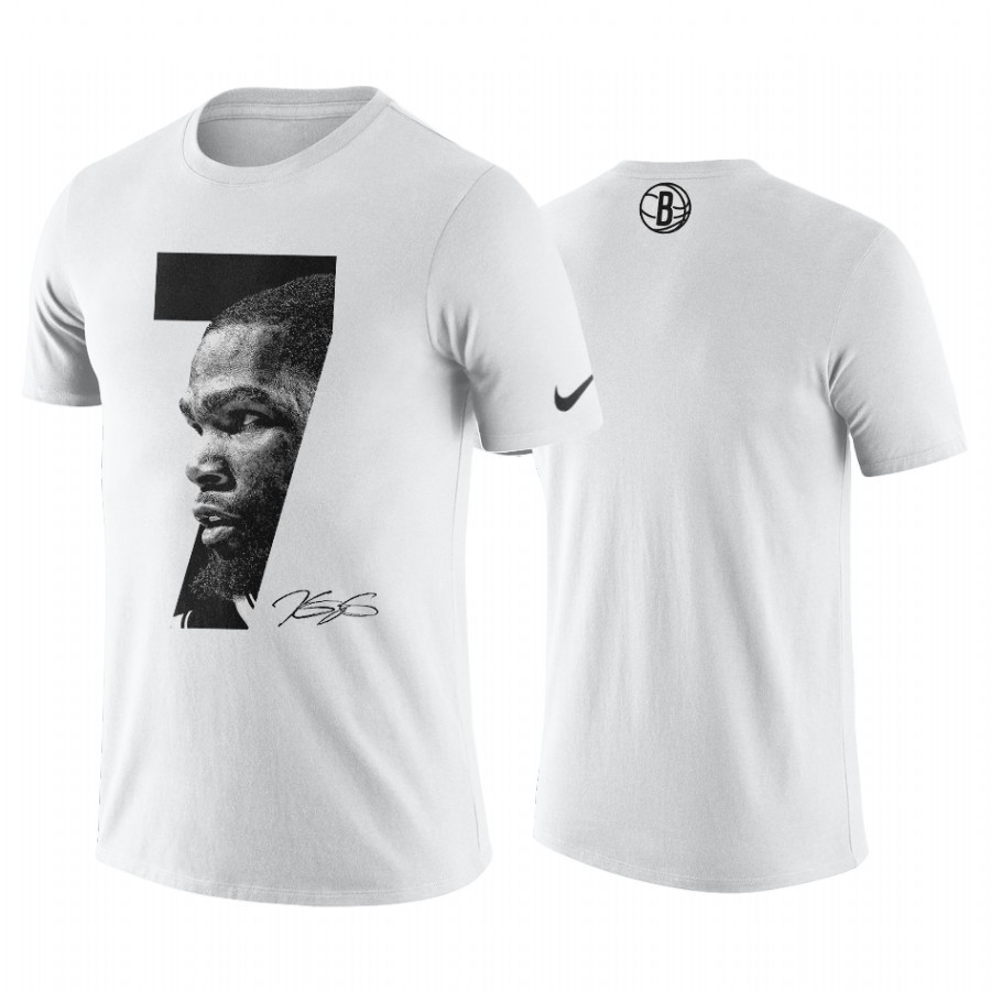 Comprare T-Shirt Brooklyn Nets Kevin Durant Bianco