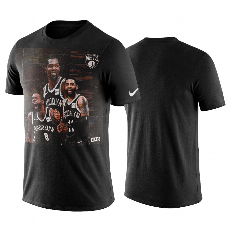 Comprare T-Shirt Brooklyn Nets Kyrie Irving Nero
