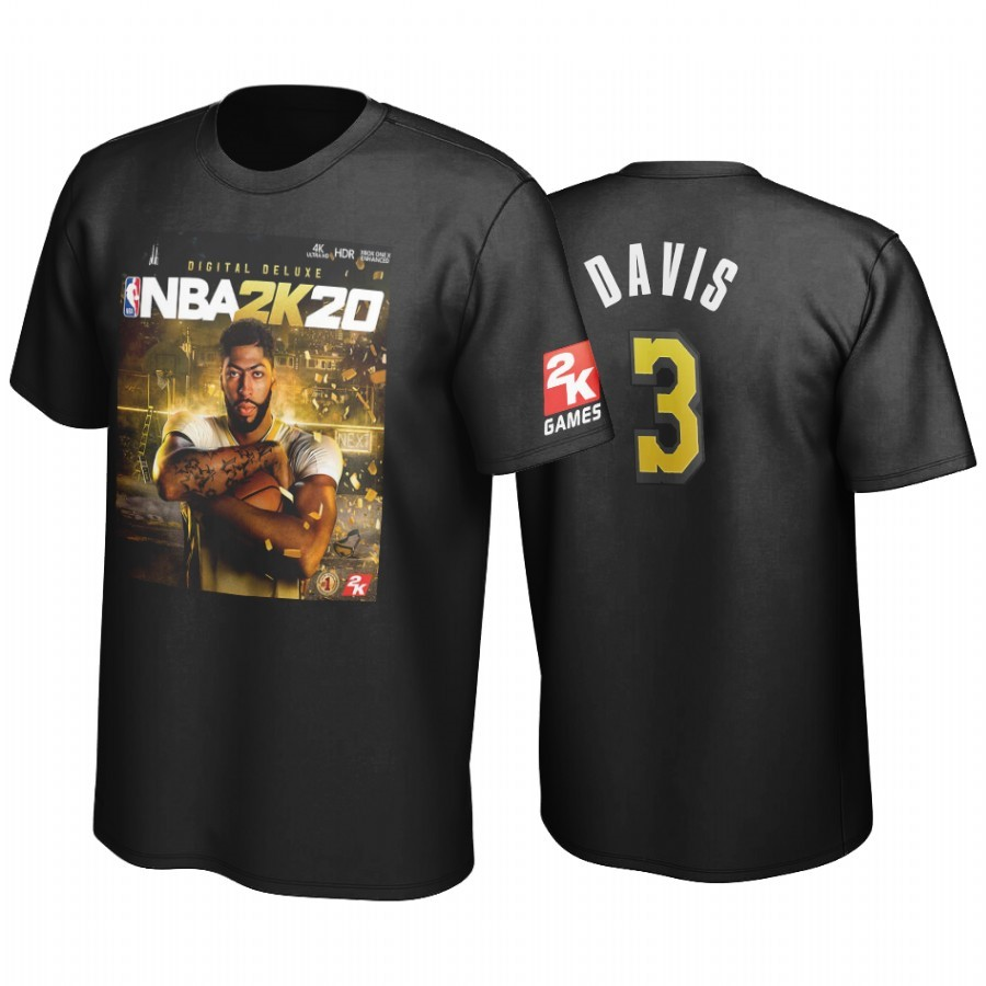 Comprare T-Shirt Golden State Los Angeles Lakers Anthony Davis Nero