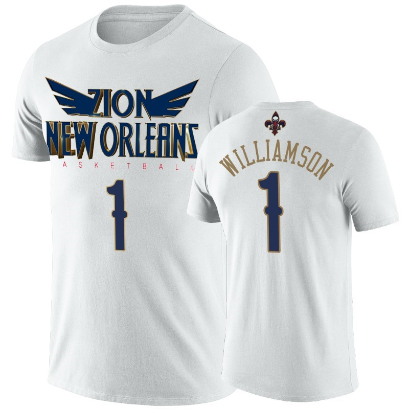 Comprare T-Shirt New Orleans Pelicans Zion Williamson Bianco