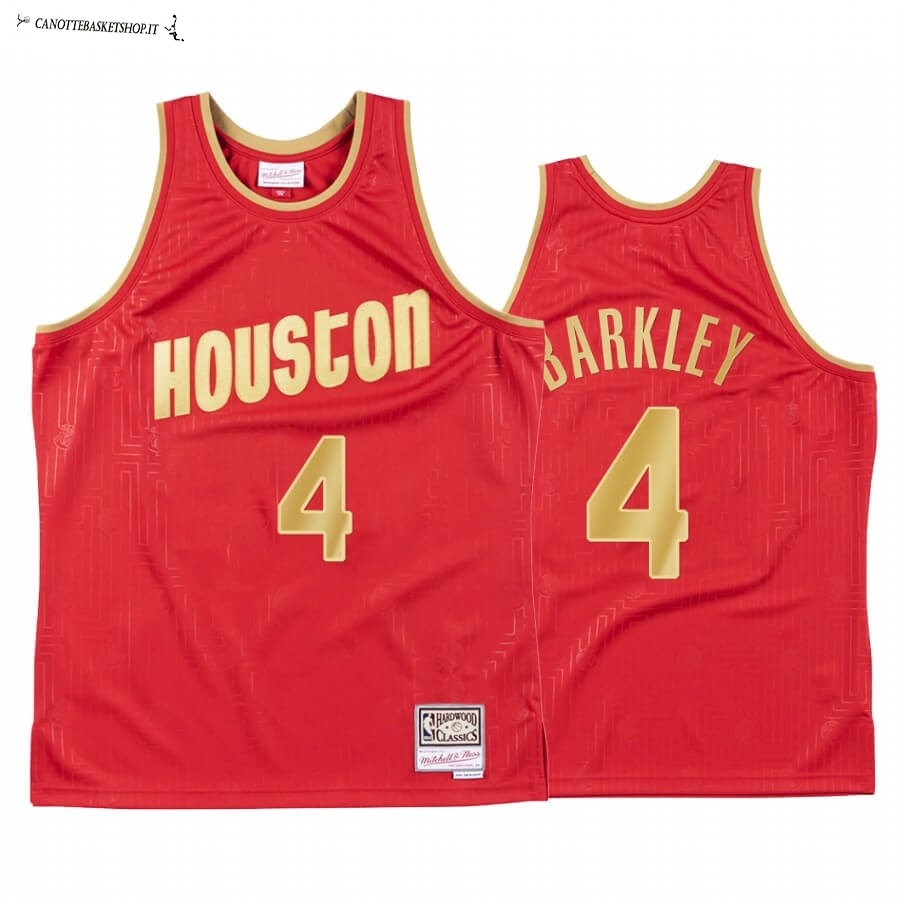 Comprare Maglia NBA CNY Throwback Huston Rockets NO.4 Charles Barkley Rosso 2020