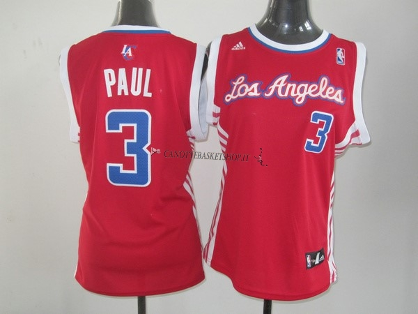 Comprare Maglia NBA Donna Los Angeles Clippers NO.3 Chris Paul Rosso