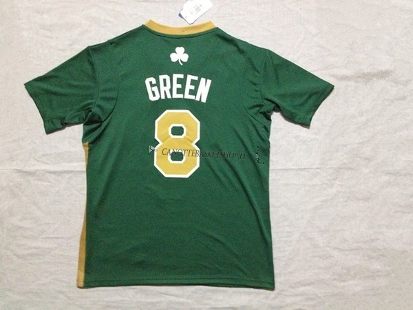 Comprare Maglia NBA Boston Celtics Manica Corta No.8 Jeff Green Verde