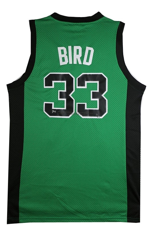 Comprare Maglia NBA Boston Celtics No.33 Larry Joe Bird Verde Nero