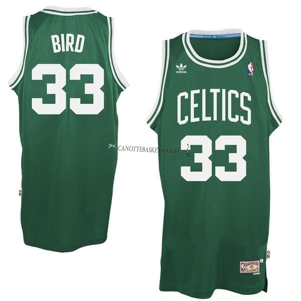 Comprare Maglia NBA Boston Celtics No.33 Larry Joe Bird Verde