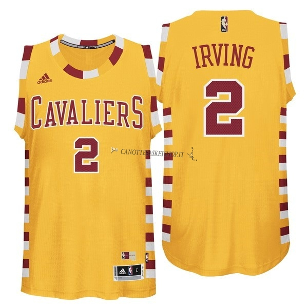 Comprare Maglia NBA Cleveland Cavaliers NO.2 Kyrie Irving Giallo Pizzo