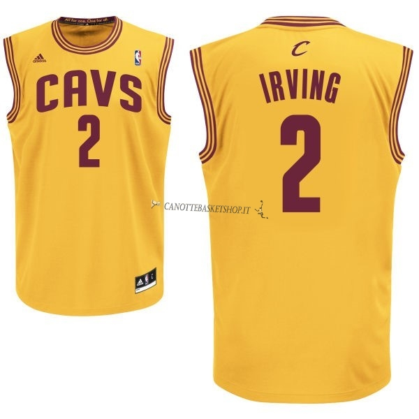 Comprare Maglia NBA Cleveland Cavaliers NO.2 Kyrie Irving Giallo