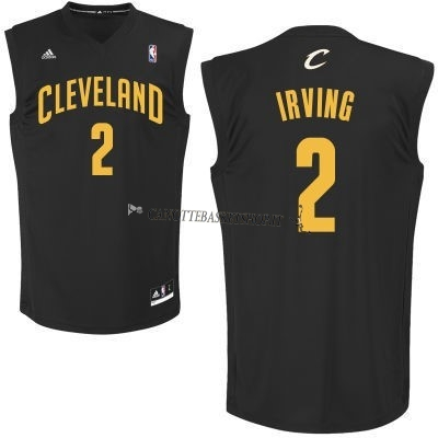 Comprare Maglia NBA Cleveland Cavaliers NO.2 Kyrie Irving Nero