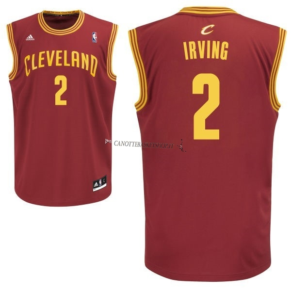 Comprare Maglia NBA Cleveland Cavaliers NO.2 Kyrie Irving Rosso