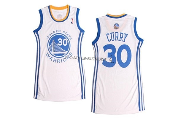 Comprare Maglia NBA Donna Golden State Warriors NO.30 Stephen Curry Bianco