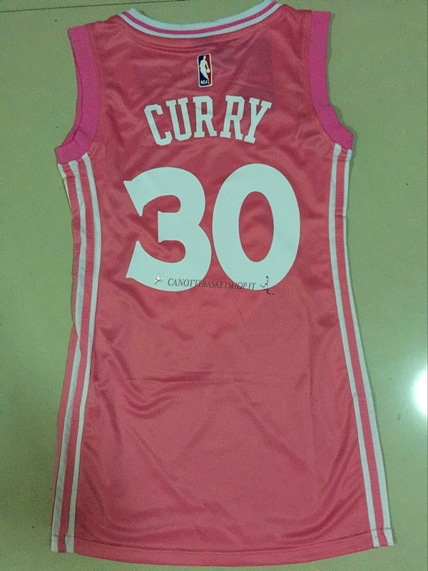 Comprare Maglia NBA Donna Golden State Warriors NO.30 Stephen Curry Rose