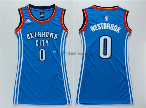 Comprare Maglia NBA Donna Oklahoma City Thunder NO.0 Russell Westbrook Blu