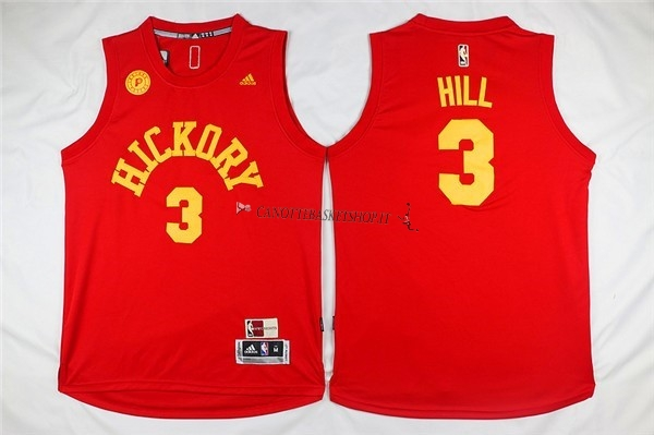 Comprare Maglia NBA Indiana Pacers NO.3 George Hill Rosso