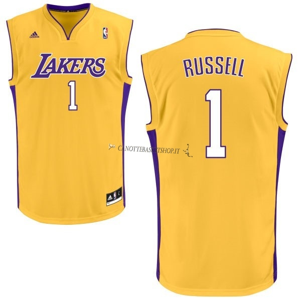 Comprare Maglia NBA Los Angeles Lakers NO.1 D'Angelo Russell Giallo