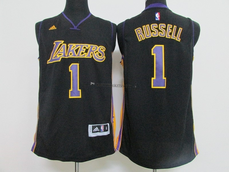 Comprare Maglia NBA Los Angeles Lakers NO.1 D'Angelo Russell Nero
