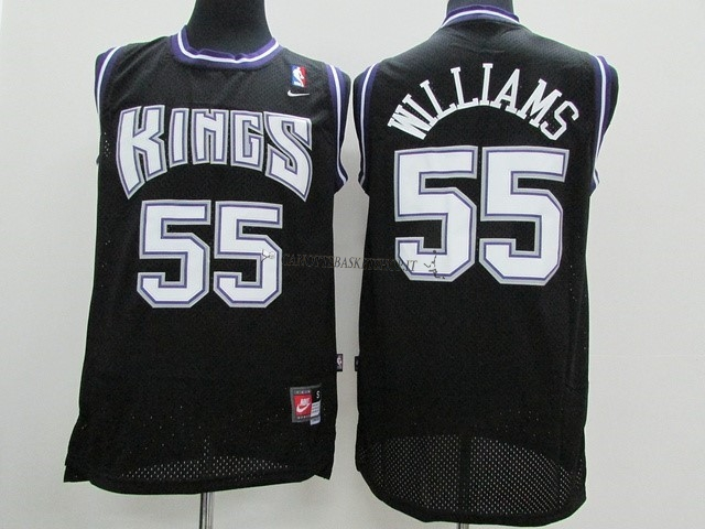 Comprare Maglia NBA Sacramento Kings NO.55 Jason Williams Nero