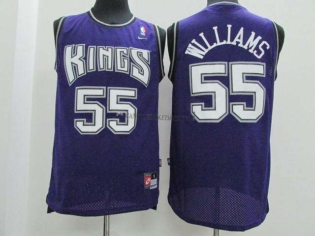 Comprare Maglia NBA Sacramento Kings NO.55 Jason Williams Porpora