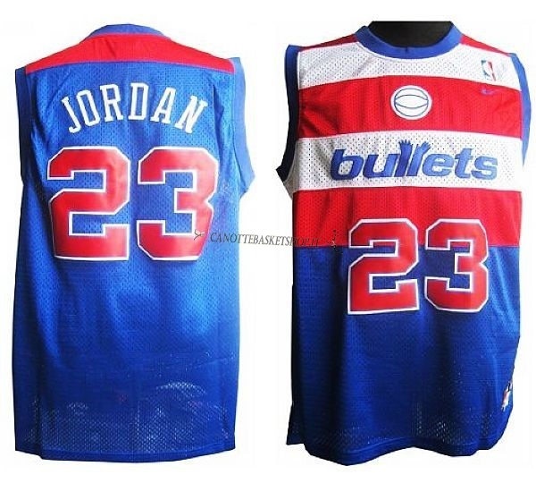 Comprare Maglia NBA Washington Wizards NO.23 Michael Jordan Retro Blu