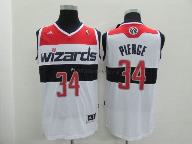 Comprare Maglia NBA Washington Wizards NO.34 Paul Pierce Bianco
